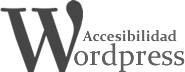 Wordpress accesible logo